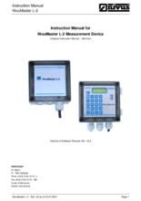 Instruction manual for NivuMaster L-2 measuring system